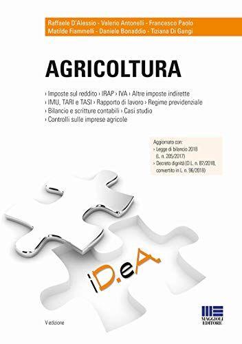 Raffaele D'Alessio Agricoltura ISBN:9788891625373