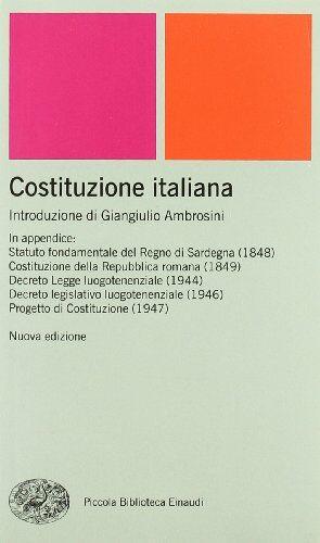 Einaudi Costituzione italiana ISBN:9788806177904