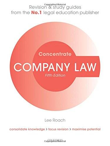 Lee Roach Company Law Concentrate: Law