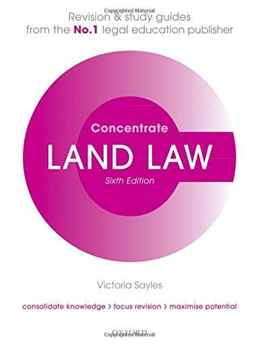 Victoria Sayles Land Law Concentrate: Law