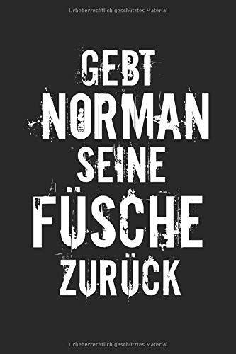 Notebook Sarkasmus Gebt Norman Seine Füsche