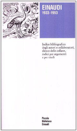 Einaudi (1933-1993) ISBN:9788806132026