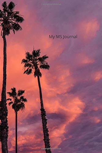 k asher my ms journal with palm trees 6x9 120 pg: notebook: perfect diary or gift for tracking medications, mood and symptoms: 120 lined pages isbn:9781660614356