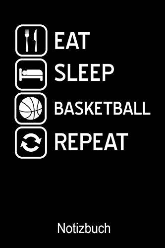 Sport Notizbücher EAT Sleep Basketball Repeat