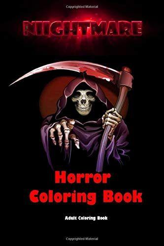 Books Nes Nightmare: Horror Coloring Book: