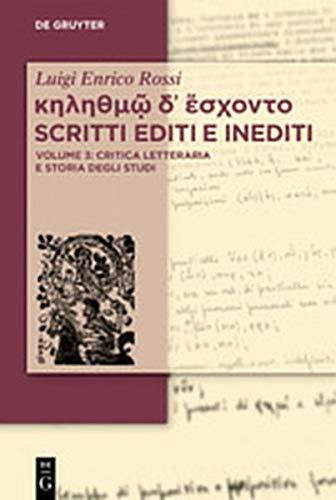 Luigi Enrico Rossi Scritti Editi E Inediti: