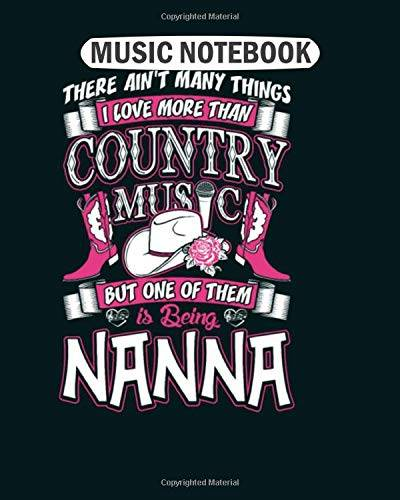 Music Notebook Music Notebook: country music