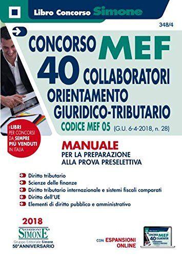 AA.VV. Concorso MEF 40 collaboratori