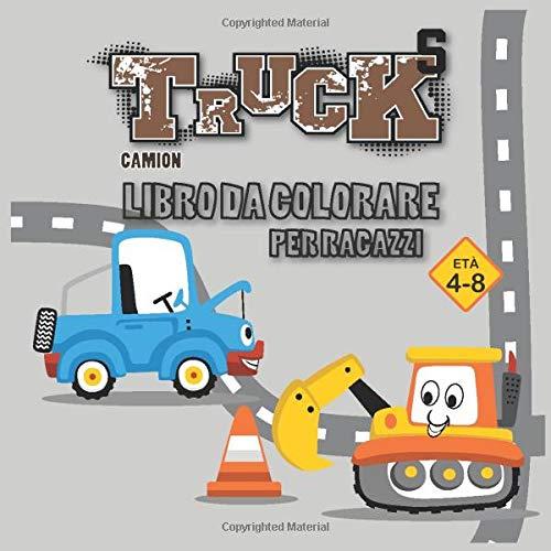 Design per libri da colorare per bambini Truck