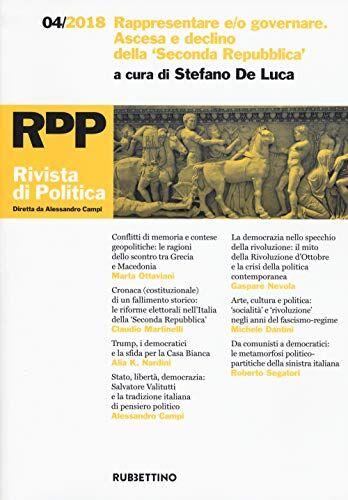 Rivista di politica (2018): 4 ISBN:9788849857443