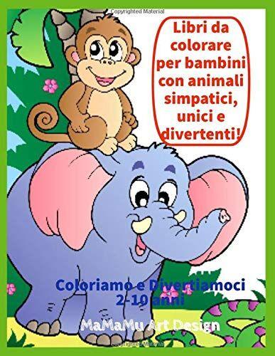 ART Libri da colorare per bambini con animali