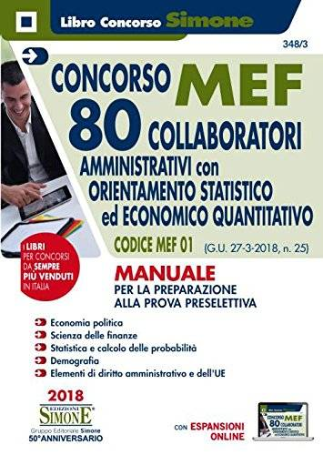 AA.VV. Concorso MEF. 80 collaboratori