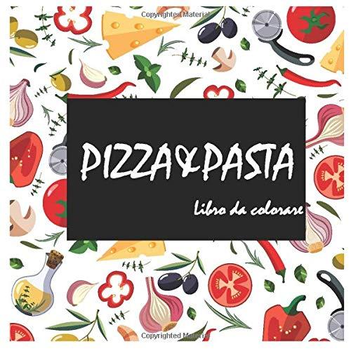 Design per libri da colorare per bambini Pizza