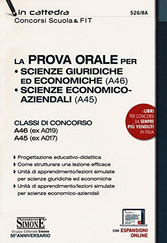 AA.VV. La prova orale per Scienze giuridiche