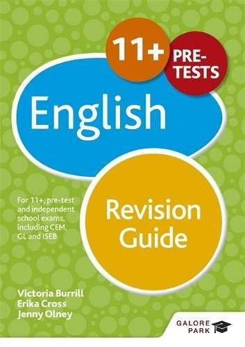 Erika Cross 11+ English Revision Guide: For