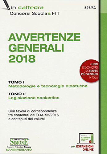 Avvertenze generali 2018: Manuale delle