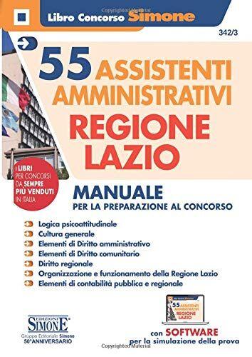 55 assistenti amministrativi Regione Lazio.