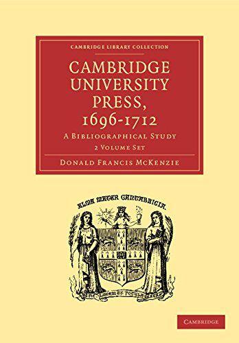 Donald Francis McKenzie Cambridge University