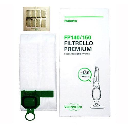 Vorwerk Confezione 6 Sacchetti Premium e 6 profumini Dovina per Folletto VK 140 - VK 150