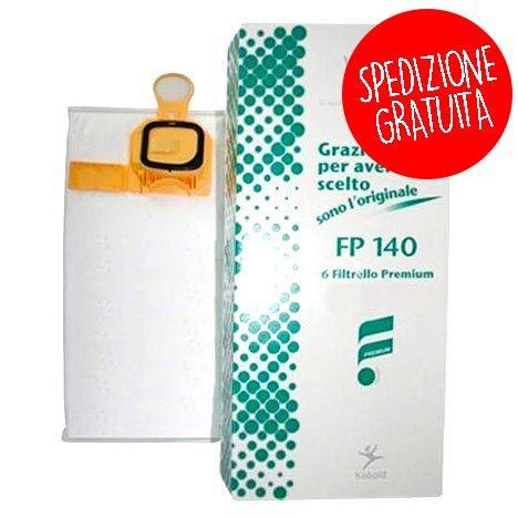 Vorwerk Confezione 6 Sacchetti per Folletto VK 140 - VK 150 - SPEDIZIONE GRATUITA