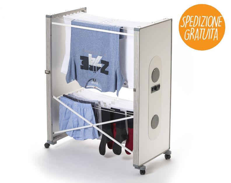 alfie stendibiancheria elettrico ventilato con ionizzatore bi-polare