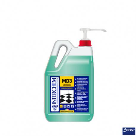 Interchem MD3 Detergente lavapavimenti Brezza Marina superconcentrato lt 5