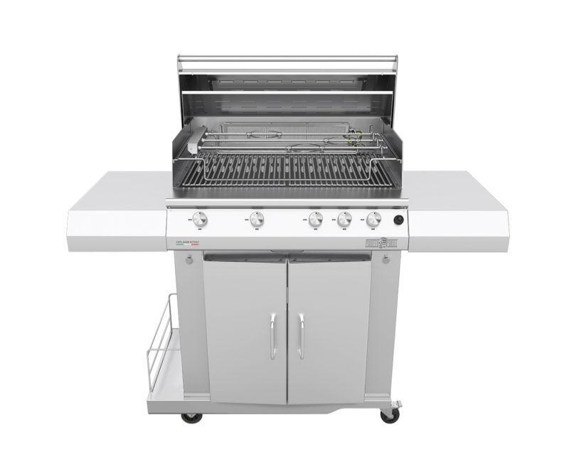 barbecue professionali barbecue a gas sun grill basic 5 fuochi range griglia tondino con girarrosto