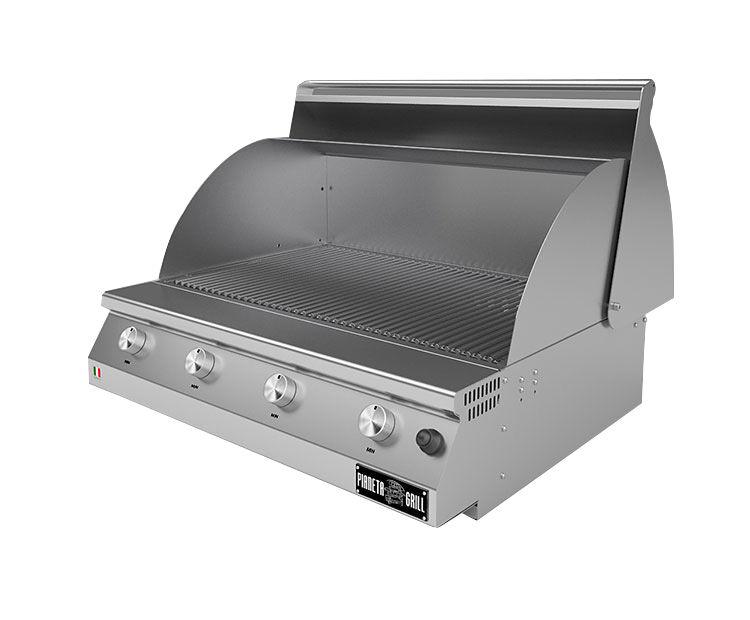 Barbecue professionali Barbecue a gas Fry Top 750 Basic da appoggio 3 bruciatori con griglia a tondino