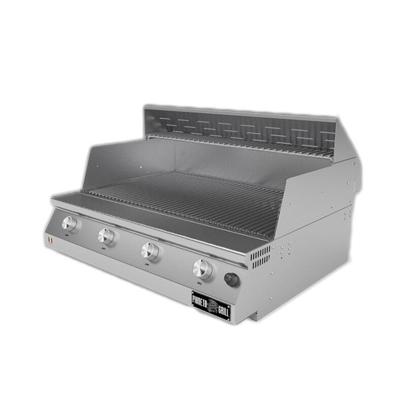 Barbecue professionali Barbecue a gas Fry Top 750 Basic 4 bruciatori senza coperchio con griglia tondino