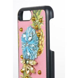 Dolce&Gabbana Cover per Iphone 7 Plus in pelle con Gioiello taglia Unica