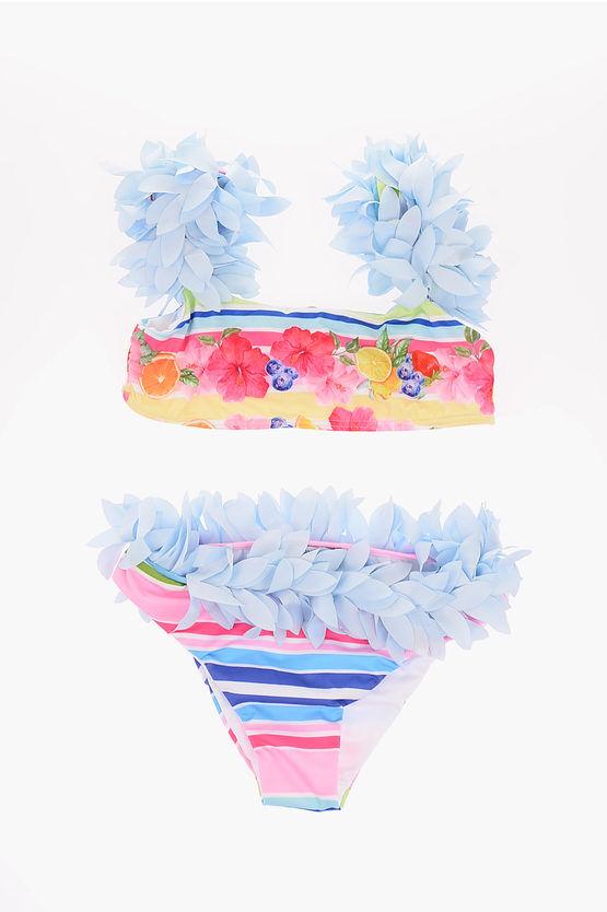 Monnalisa Costume da Bagno Bikini stampa floreale taglia 10 A