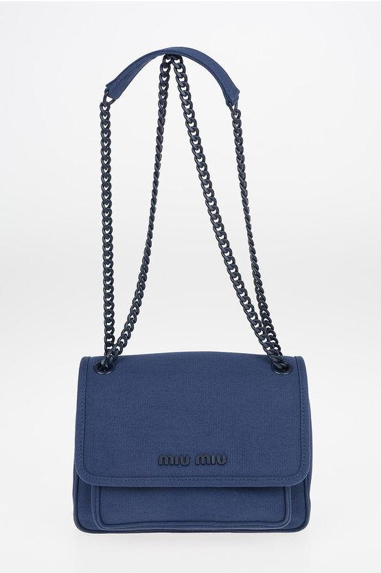 miu miu borsa a tracolla in canapa con catena regolabile taglia unica