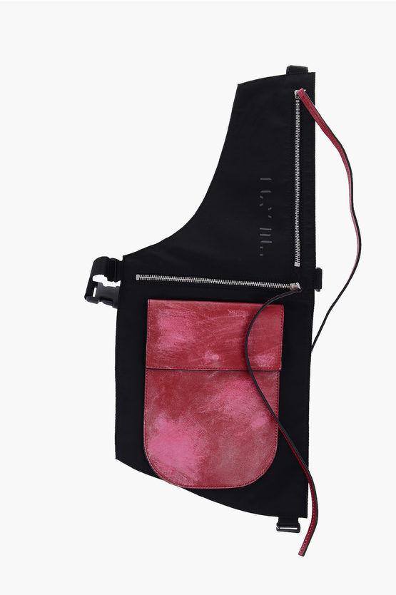 unravel borsa crossbody effetto vintage con dettagli in pelle taglia unica