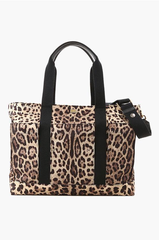 dolce&gabbana borsa stampa ghepardo con fasciatoio taglia unica