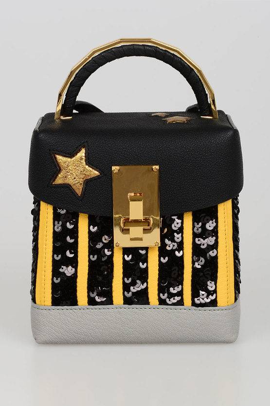 The Volon Box Bag in Paillettes taglia Unica