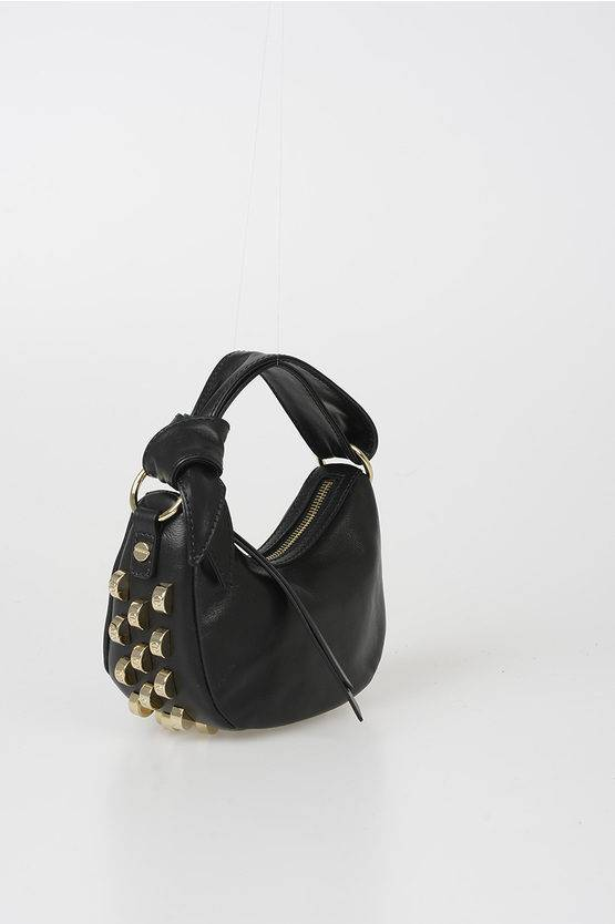 Borbonese Mini Bag in Pelle con Borchie taglia Unica