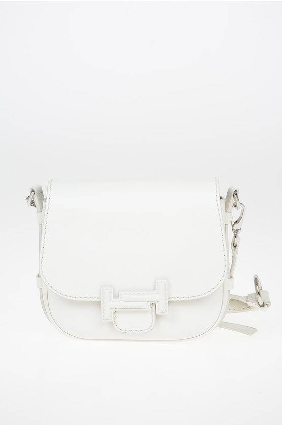 Tods Mini DOUBLE T Saddle Bag in Pelle con Tracolla Removbile taglia Unica