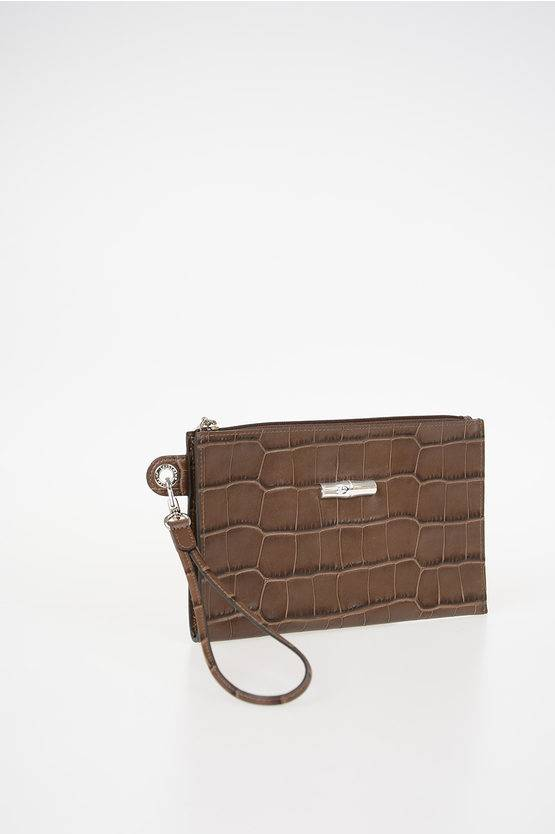 Longchamp Mini Pochette Busta in Pelle taglia Unica