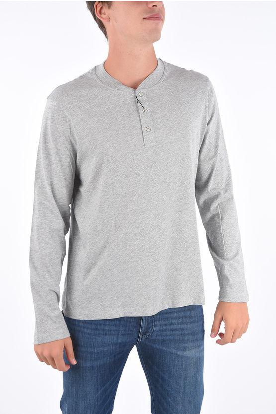Armani EXCHANGE T-shirt henley a manica lunga taglia Xl