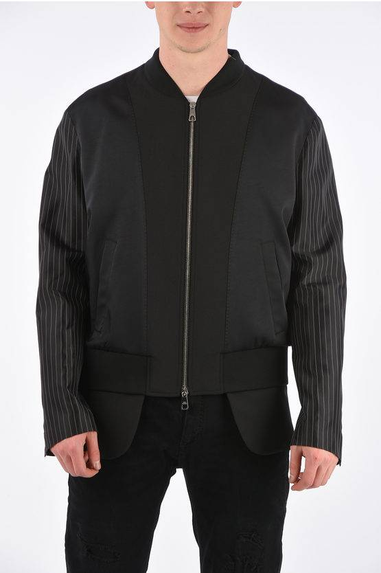 Neil Barrett Bomber Tailored Slim Fit con Manica a Righe taglia L