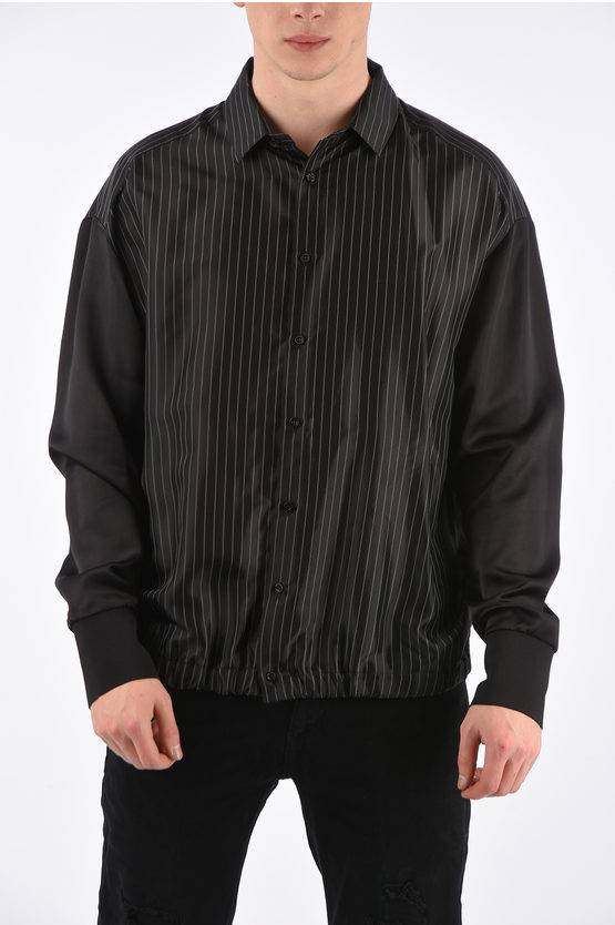 Neil Barrett Camicia Gessata con Polsino Elastico taglia M