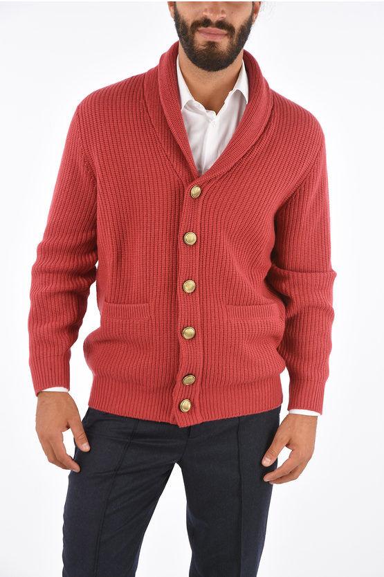 Brunello Cucinelli Cardigan Crochet a Due Tasche taglia 54