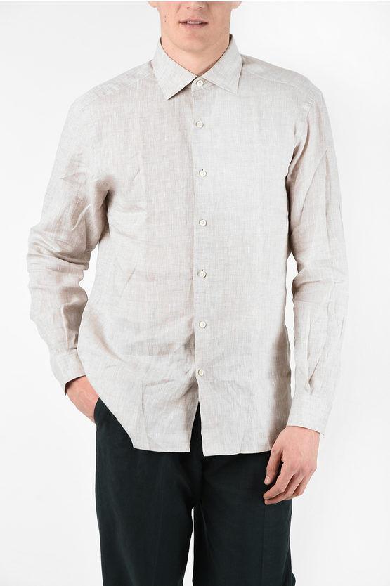 Zegna EZ LUXURY Camicia in Lino taglia M