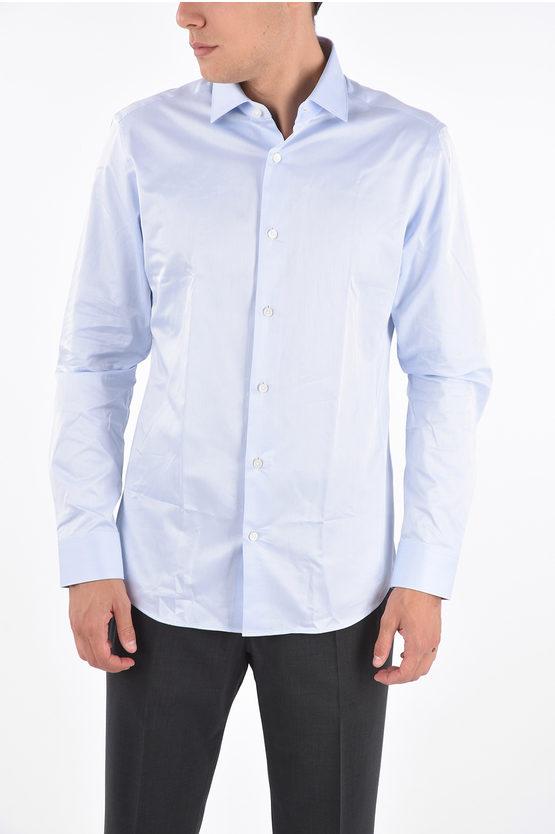 Zegna EZ TAILORING Camicia Collo Francese in Cotone TENCEL taglia 40