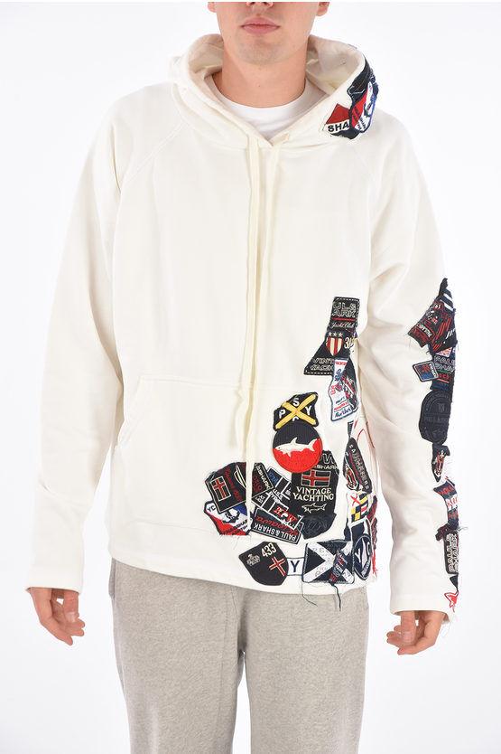 Shark felpa hoodie Oversize con Patch taglia M