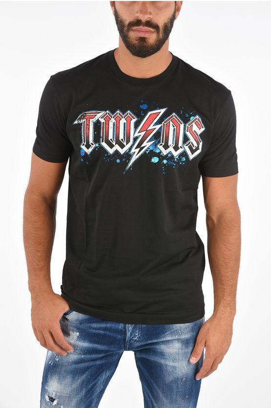 Dsquared2 ICON T-Shirt THE ROCK Stampata taglia L