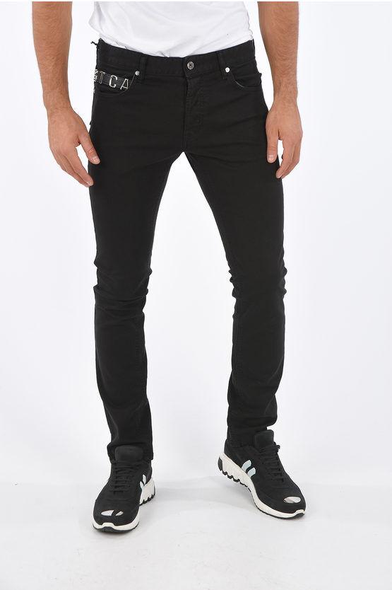 Just Cavalli Jeans Regular Fit con applicazione gioiello 17cm taglia 30