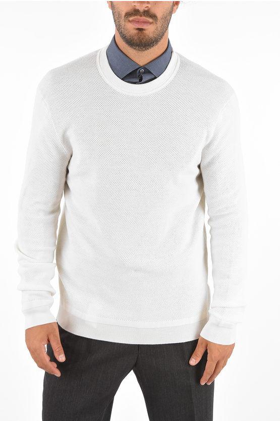 Zegna Maglia in cashmere e lana girocollo taglia 50
