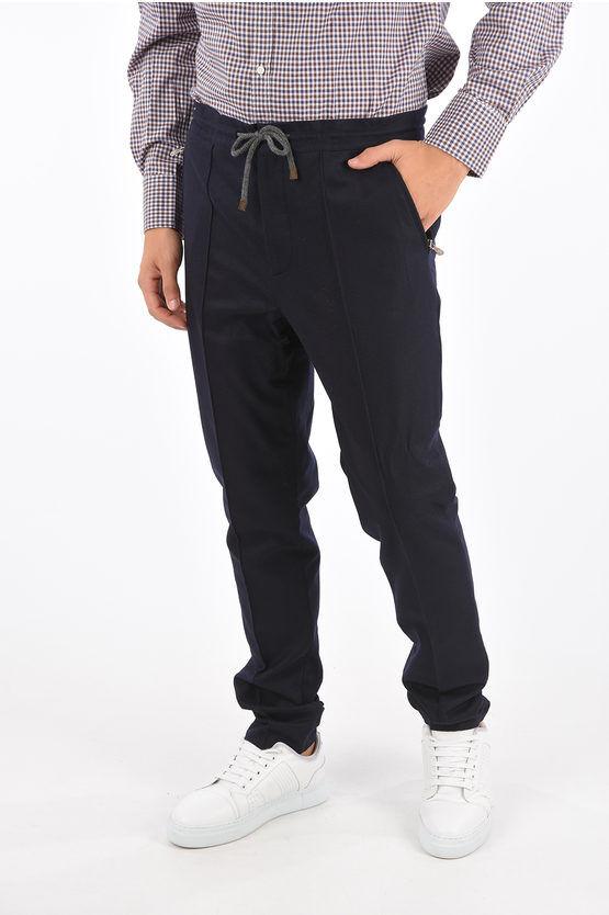 Brunello Cucinelli Pantaloni in Lana LEISURE FIT ad 1 Pince taglia 48