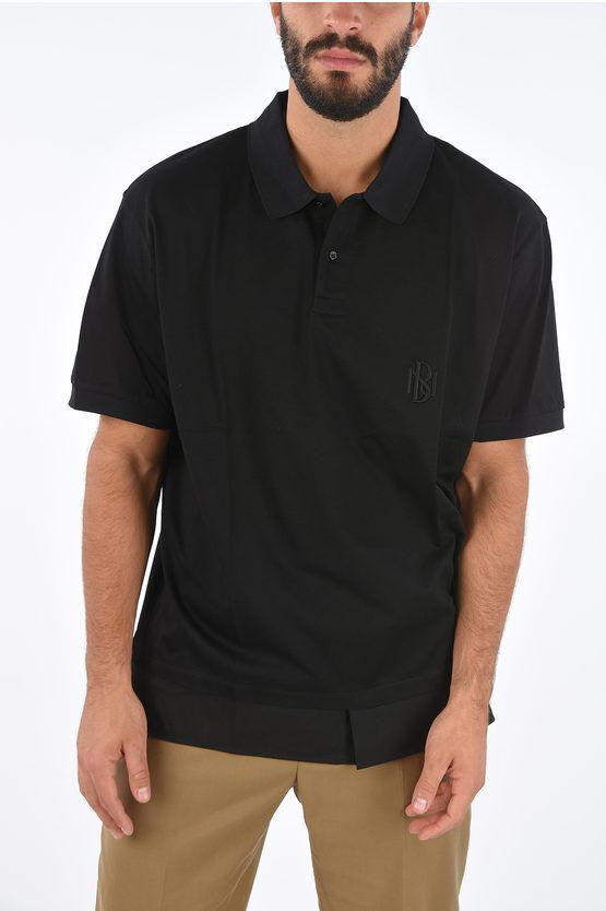 Neil Barrett Polo Easy Fit in Jersey con Logo Ricamato taglia Xl
